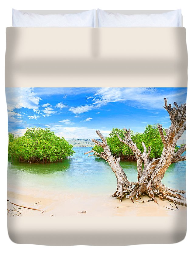 Tropical Duvet Cover featuring the photograph Panorama Island by MotHaiBaPhoto Prints