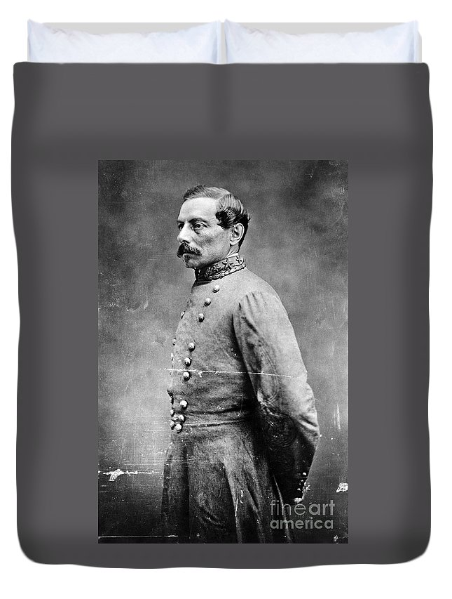 1860s Duvet Cover featuring the photograph Pierre G.t.de Beauregard by Granger