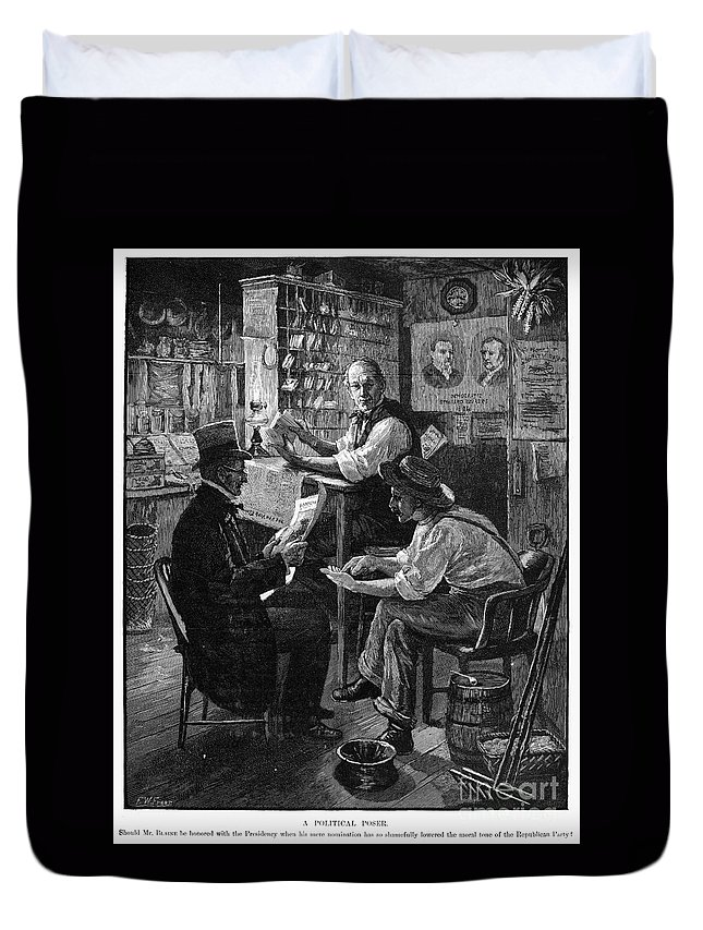 1884 Duvet Cover featuring the photograph Presidential Campaign, 1884 by Granger