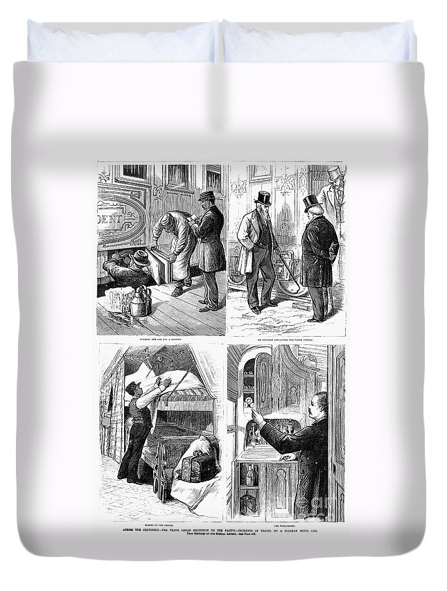 1877 Duvet Cover featuring the photograph Pullman Car, 1877 by Granger