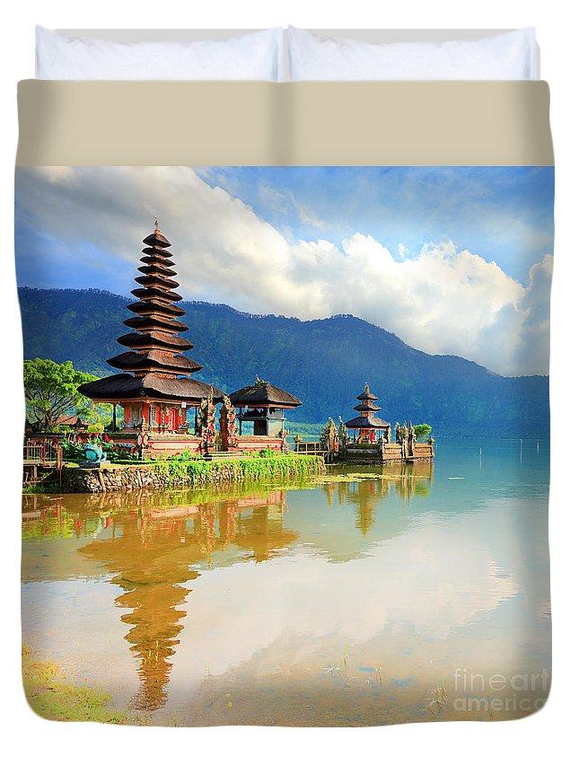 Pura Ulun Danu Duvet Cover featuring the photograph Pura Ulun Danu by MotHaiBaPhoto Prints