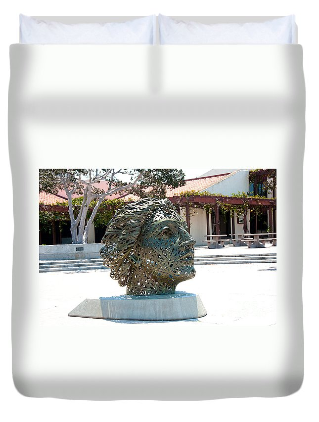Artistic Sculpture Duvet Cover featuring the digital art San Diego by Carol Ailles