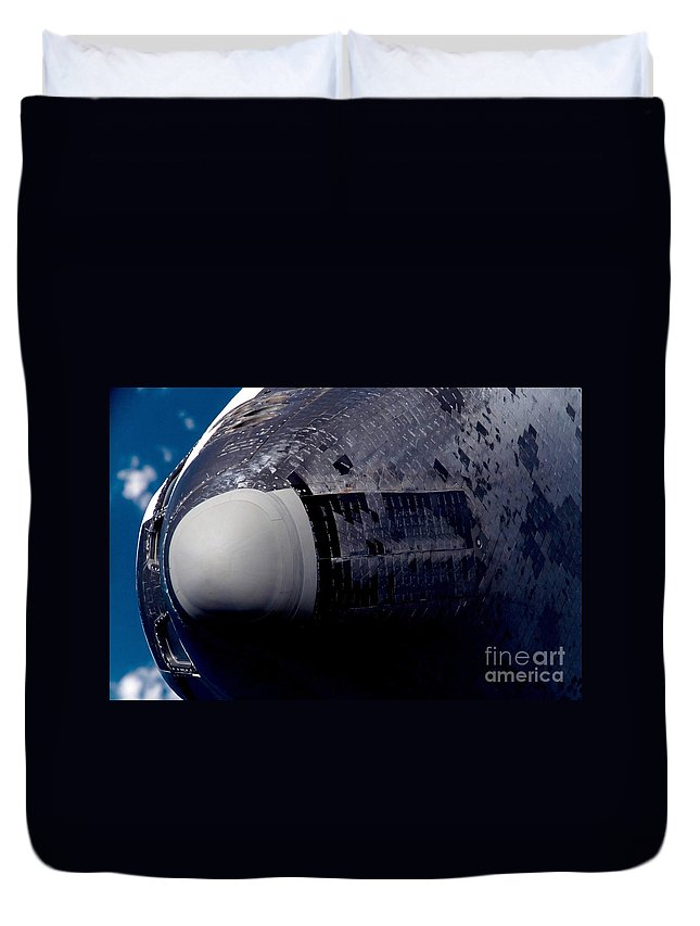Close-up Duvet Cover featuring the photograph Space Shuttle Endeavour by Stocktrek Images