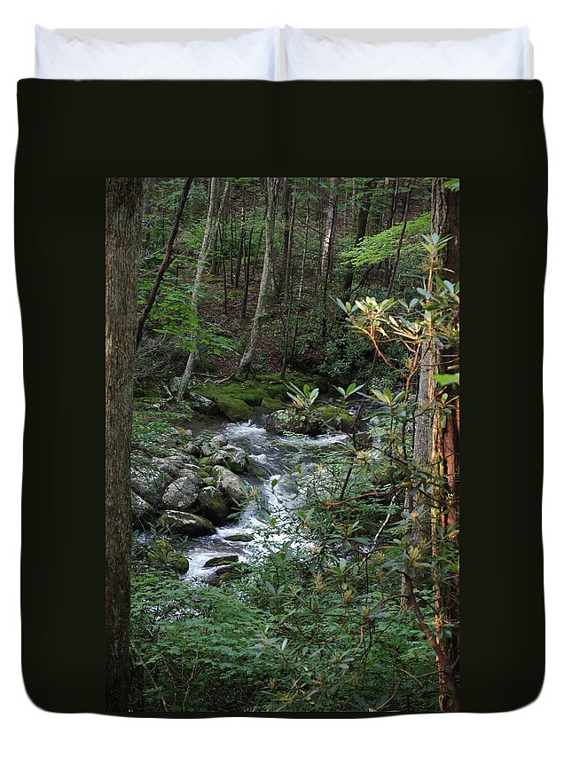 Stream Duvet Cover featuring the photograph Stream by Megan Cohen