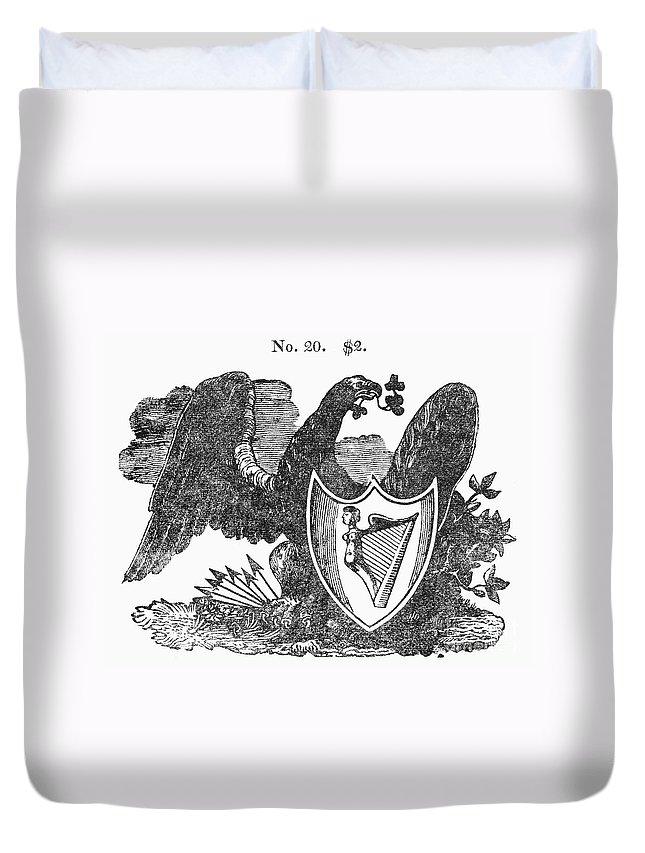 1825 Duvet Cover featuring the photograph Symbols: Eagle by Granger