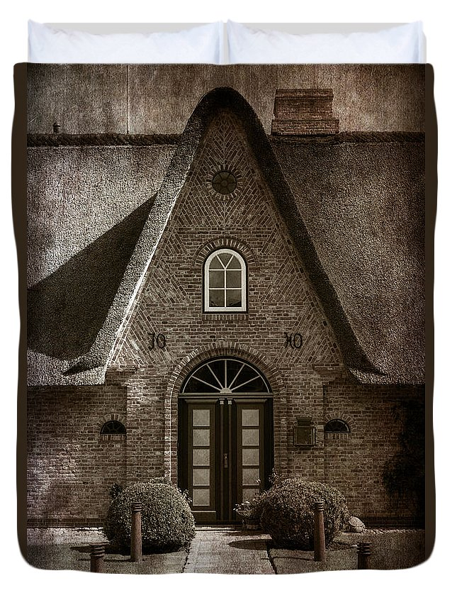 House Duvet Cover featuring the photograph Thatch by Joana Kruse
