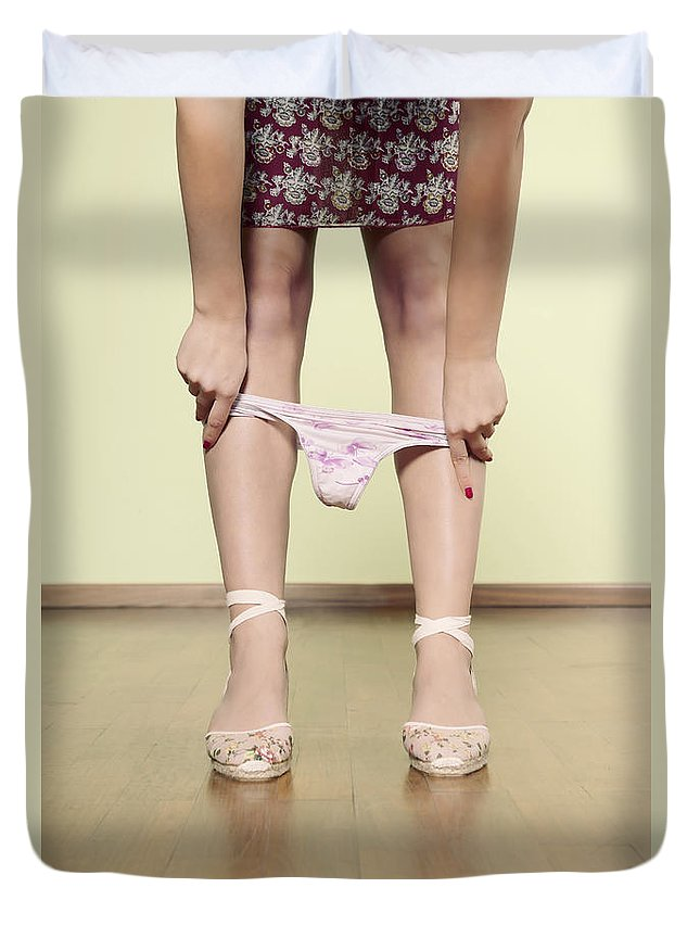 Female Duvet Cover featuring the photograph Underpants by Joana Kruse
