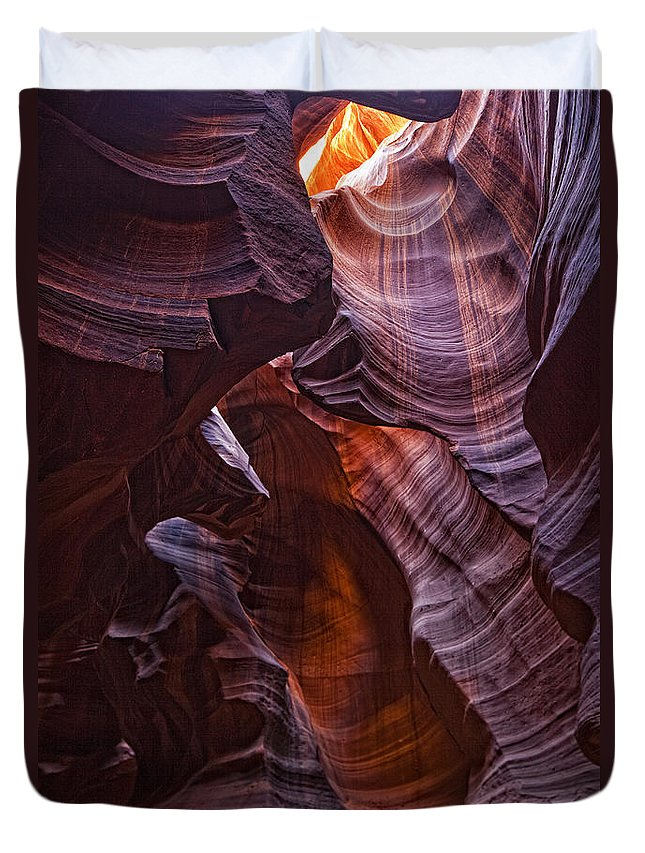 Light Duvet Cover featuring the photograph Upper Antelope Canyon, Arizona by Robert Postma