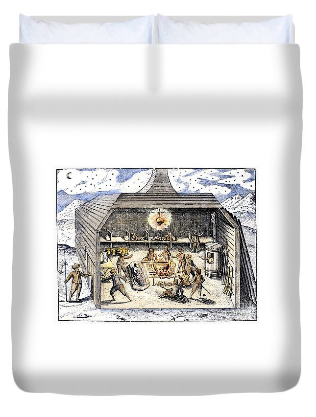 1590s Duvet Cover featuring the photograph Willem Barents (c1550-1597) by Granger