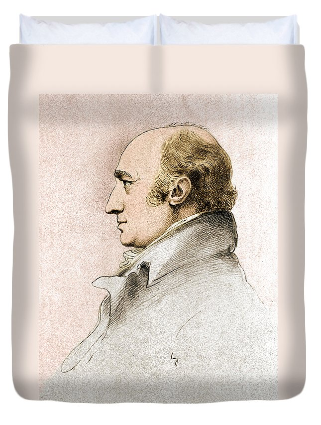 Science Duvet Cover featuring the photograph William Hyde Wollaston, English Chemist by Science Source
