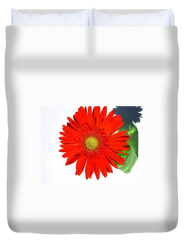 Gerbera Photographs Duvet Cover featuring the photograph 2003a1 by Kimberlie Gerner