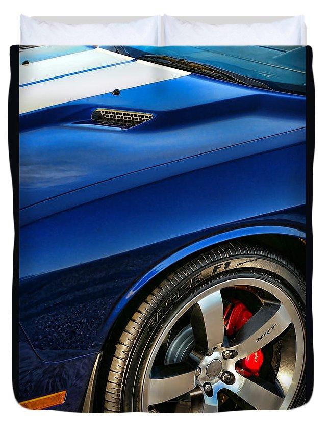 2011 Duvet Cover featuring the photograph 2011 Dodge Challenger 392 Hemi Srt8 by Gordon Dean II