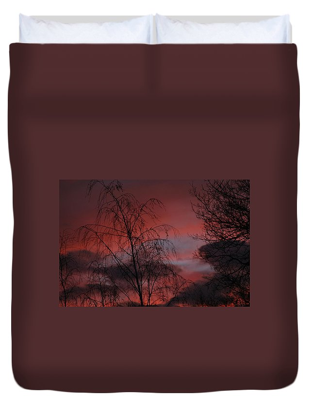 Sunset Duvet Cover featuring the photograph 2011 Sunset 1 by Paul SEQUENCE Ferguson       sequence dot net