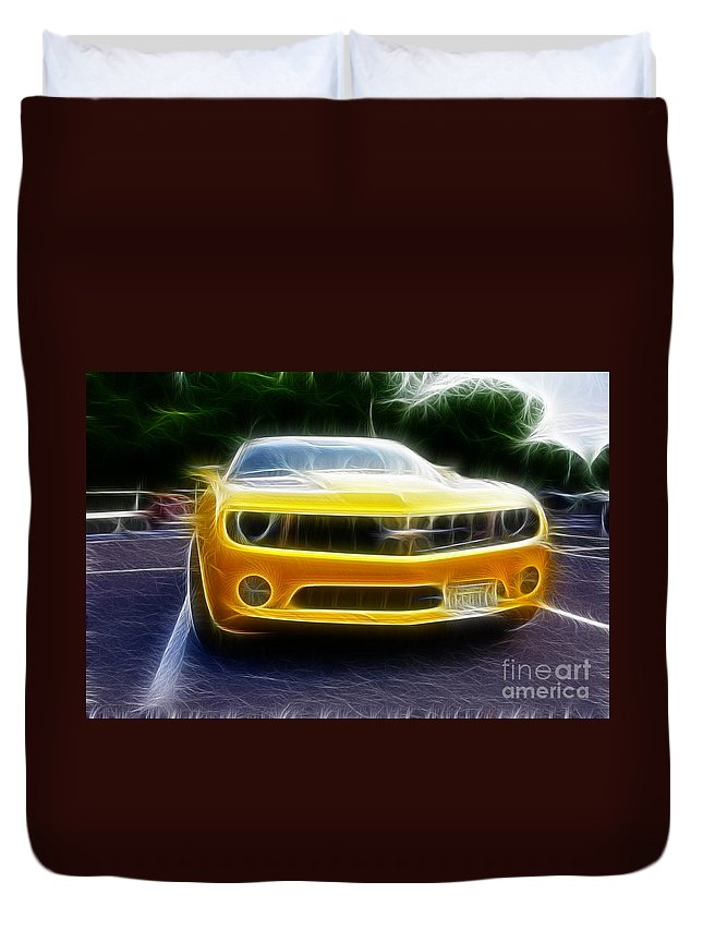 Performance Car Duvet Cover featuring the photograph 2012 Chevrolet Camaro Rs by Paul Ward