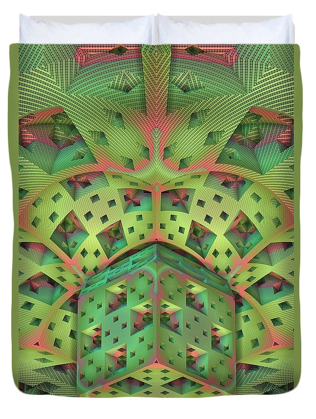 Fractal Duvet Cover featuring the digital art 20120518-1 by Lyle Hatch