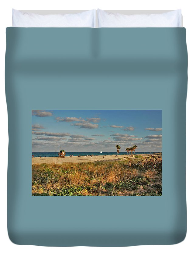 Beach Duvet Cover featuring the photograph 22- Beach by Joseph Keane