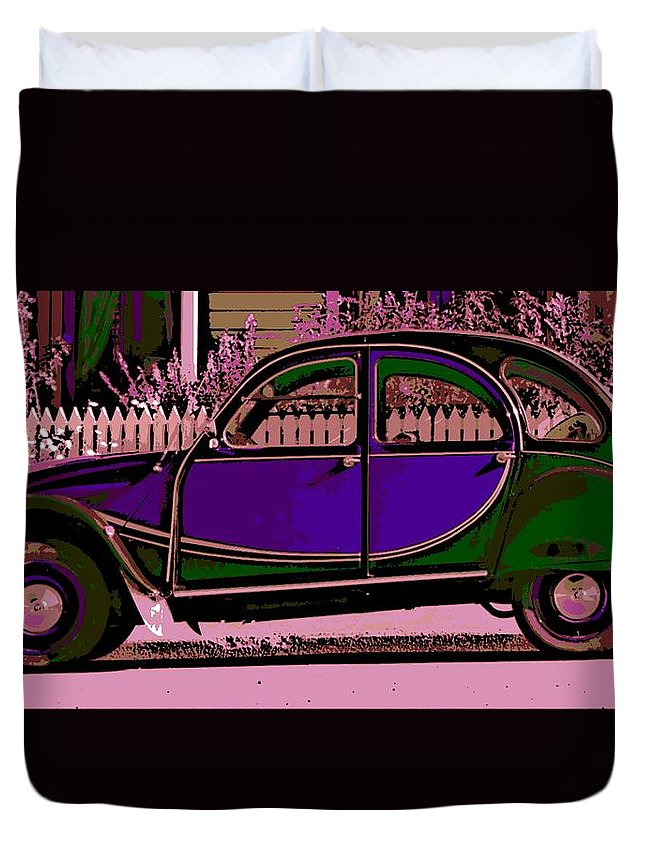 Citroen Duvet Cover featuring the photograph 2CV by George Pedro
