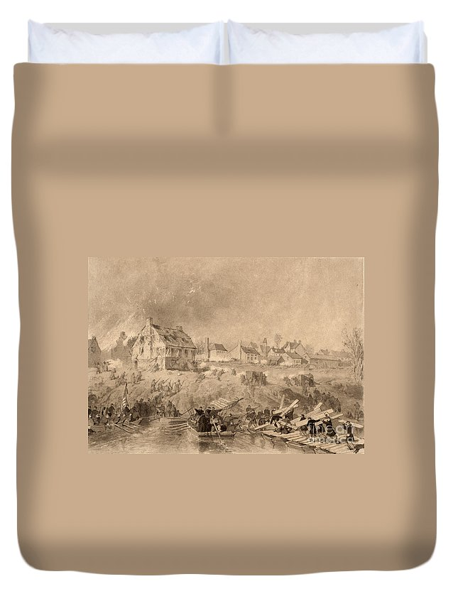 1862 Duvet Cover featuring the photograph Battle Of Fredericksburg by Granger