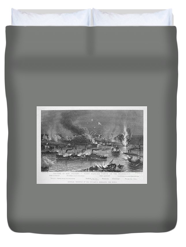 1862 Duvet Cover featuring the photograph Capture Of New Orleans by Granger