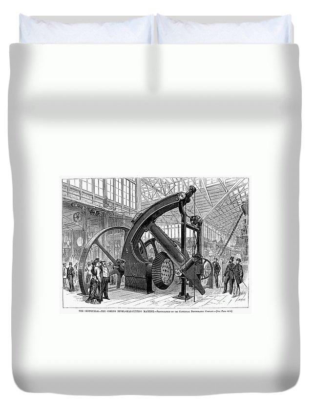 1876 Duvet Cover featuring the photograph Centennial Fair, 1876 by Granger
