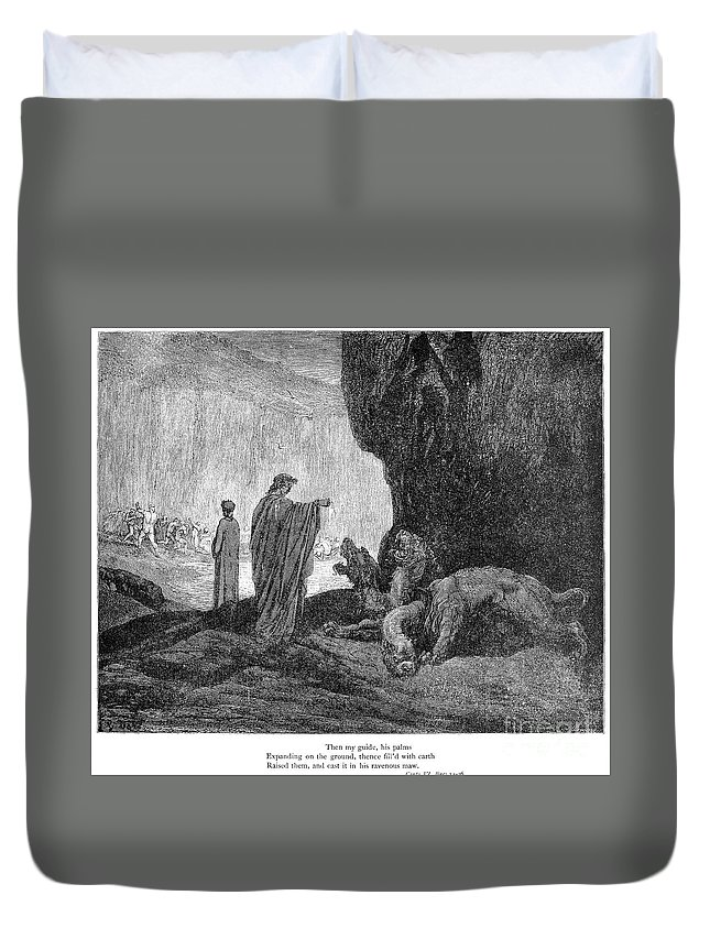 14th Century Duvet Cover featuring the photograph Dante: Inferno by Granger