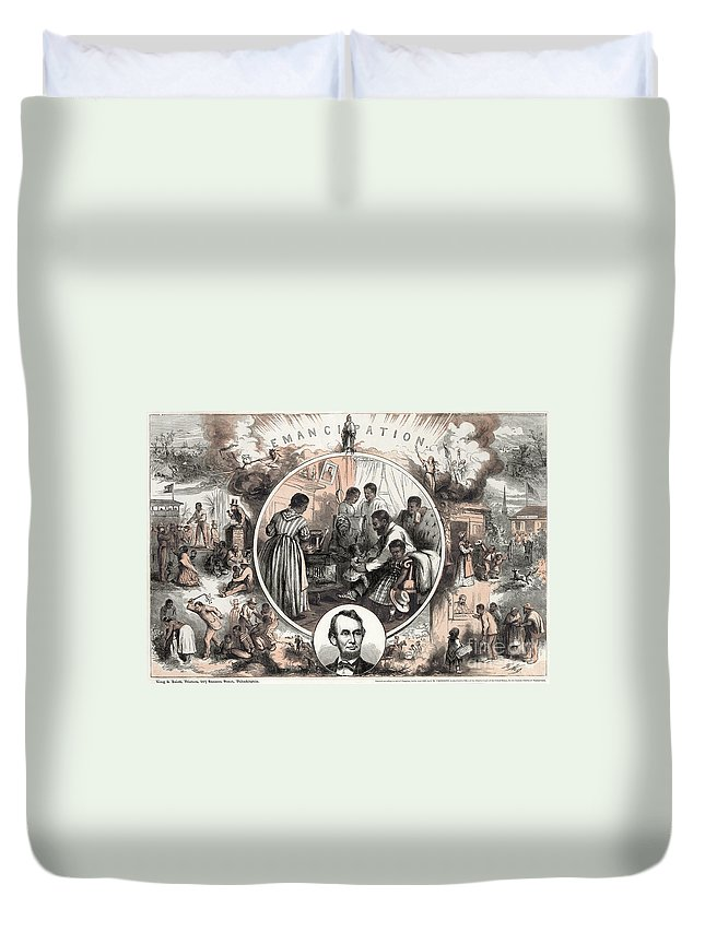 1863 Duvet Cover featuring the photograph Emancipation Proclamation by Granger