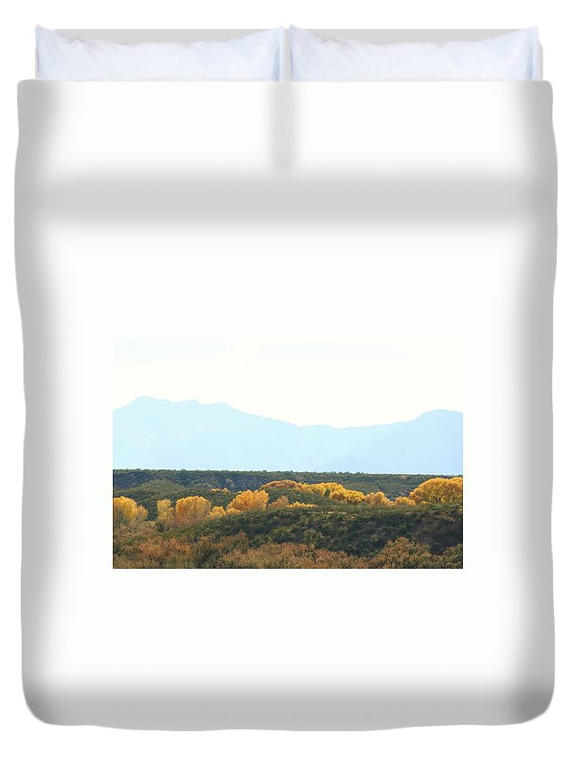 River Duvet Cover featuring the photograph Fall Along The San Pedro 2011 by Michael C Crane