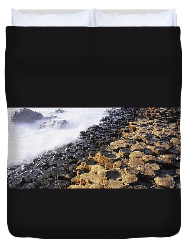 Co Antrim Duvet Cover featuring the photograph Giants Causeway, Co Antrim, Ireland by The Irish Image Collection