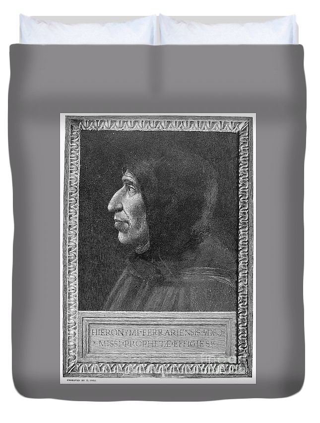 15th Century Duvet Cover featuring the photograph Girolamo Savonarola by Granger