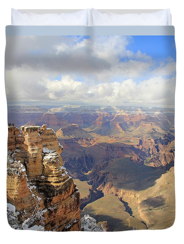 Grand Canyon Duvet Cover featuring the photograph Grand Canyon by Jack Schultz