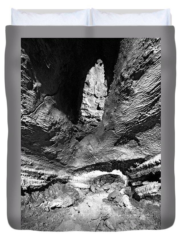 Cave Duvet Cover featuring the photograph Lava Tube Cave by Gaspar Avila