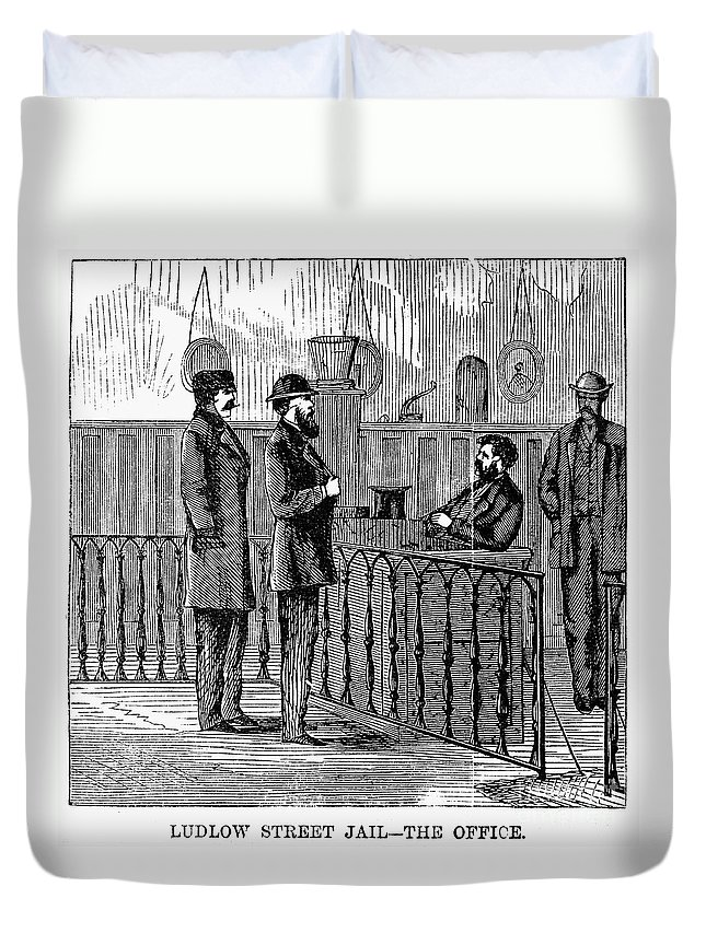 1868 Duvet Cover featuring the photograph Ludlow Street Jail, 1868 by Granger