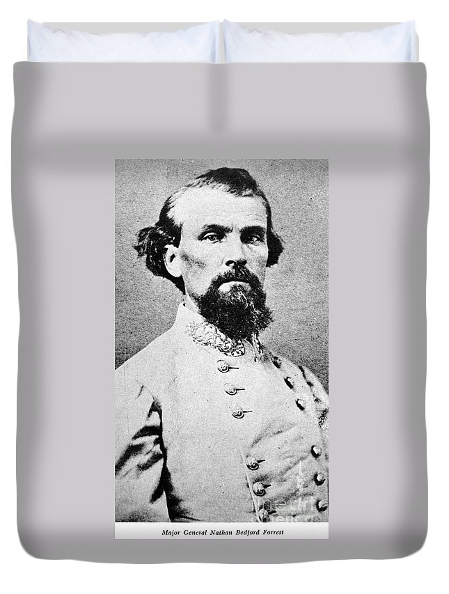 1864 Duvet Cover featuring the photograph Nathan Bedford Forrest by Granger