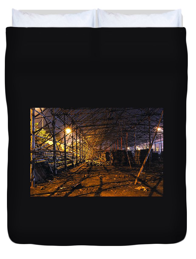 Carnival Duvet Cover featuring the photograph Preparation Of A Carnival by Sumit Mehndiratta