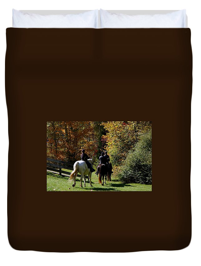 Usa Duvet Cover featuring the photograph Riding Soldiers by LeeAnn McLaneGoetz McLaneGoetzStudioLLCcom
