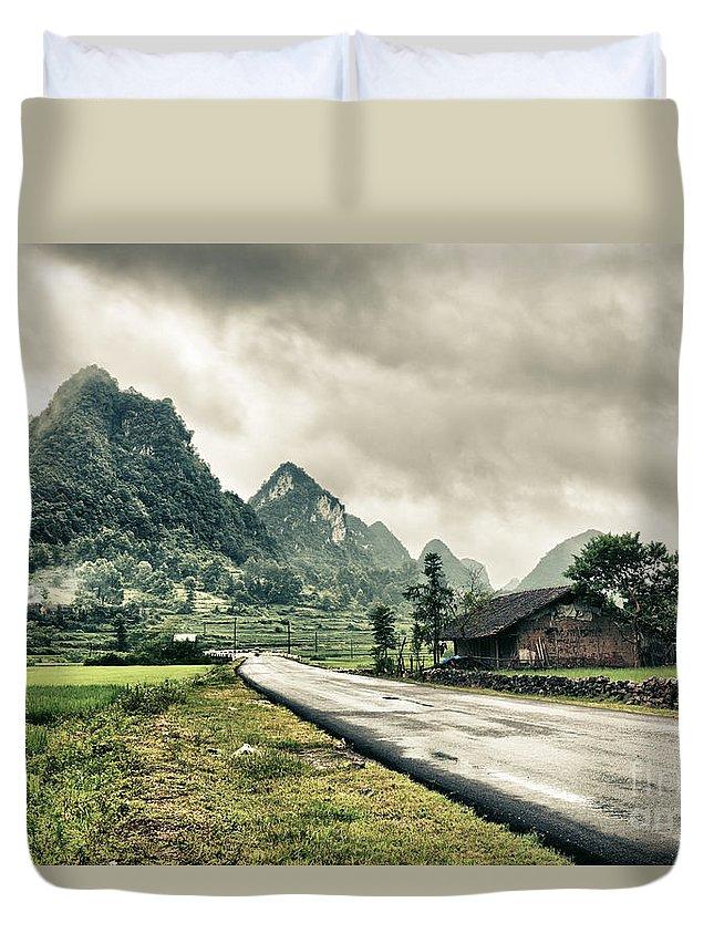 Rural Duvet Cover featuring the photograph Rural Landscape by MotHaiBaPhoto Prints