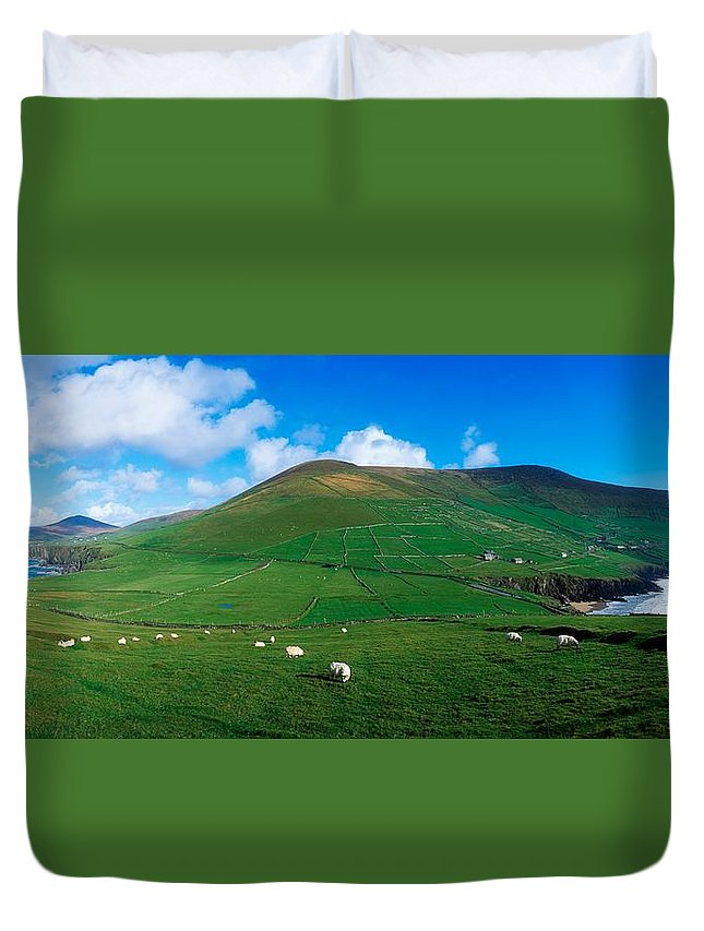 Coast Duvet Cover featuring the photograph Slea Head, Dingle Peninsula, Co Kerry by The Irish Image Collection