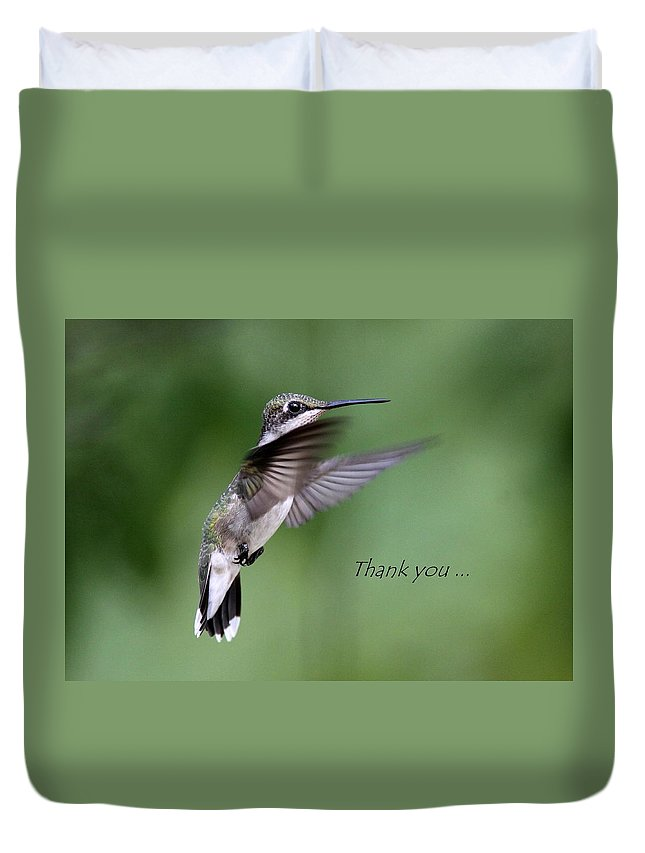 Thank You Duvet Cover featuring the photograph Thank You Card by Travis Truelove