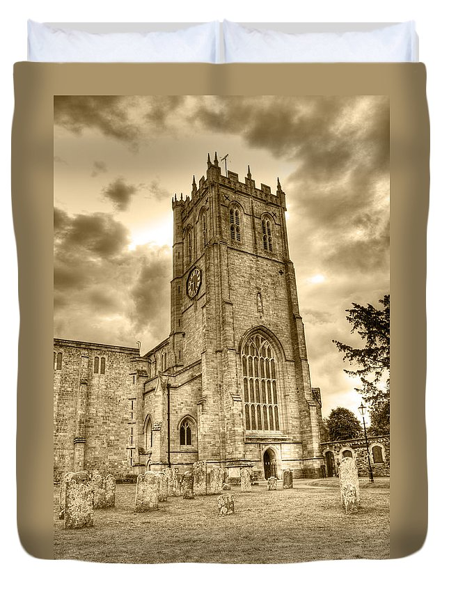 Christchurch Duvet Cover featuring the photograph The Priory by Chris Day