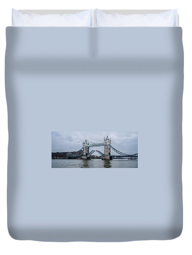 Tower Bridge Duvet Cover featuring the photograph Tower Bridge by Dawn OConnor