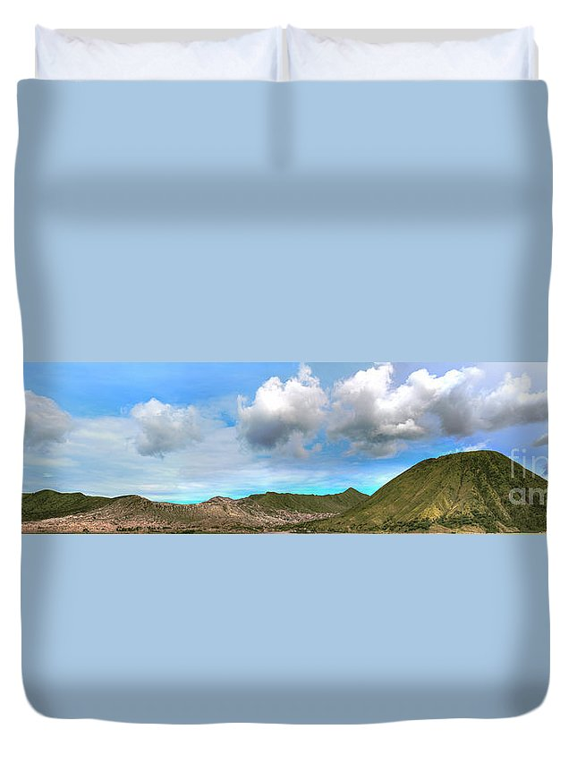 Bromo Duvet Cover featuring the photograph Volcanos by MotHaiBaPhoto Prints