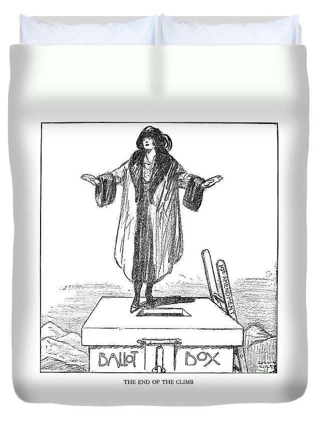 1920 Duvet Cover featuring the photograph Womens Rights Cartoon by Granger