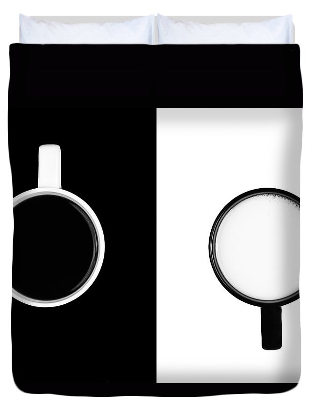 Background Duvet Cover featuring the photograph Yin And Yang by Gert Lavsen