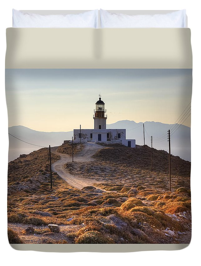 Mykonos Duvet Cover featuring the photograph Mykonos by Joana Kruse