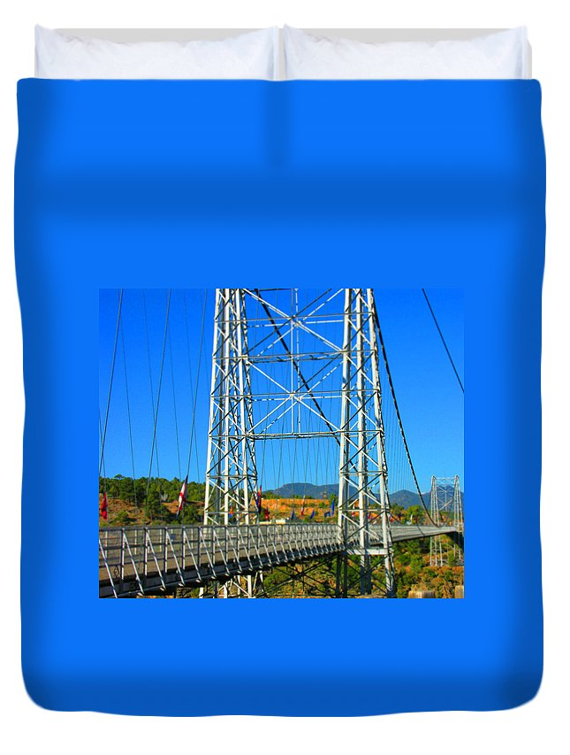 Bridge Duvet Cover featuring the photograph Untitled by Adam Vance