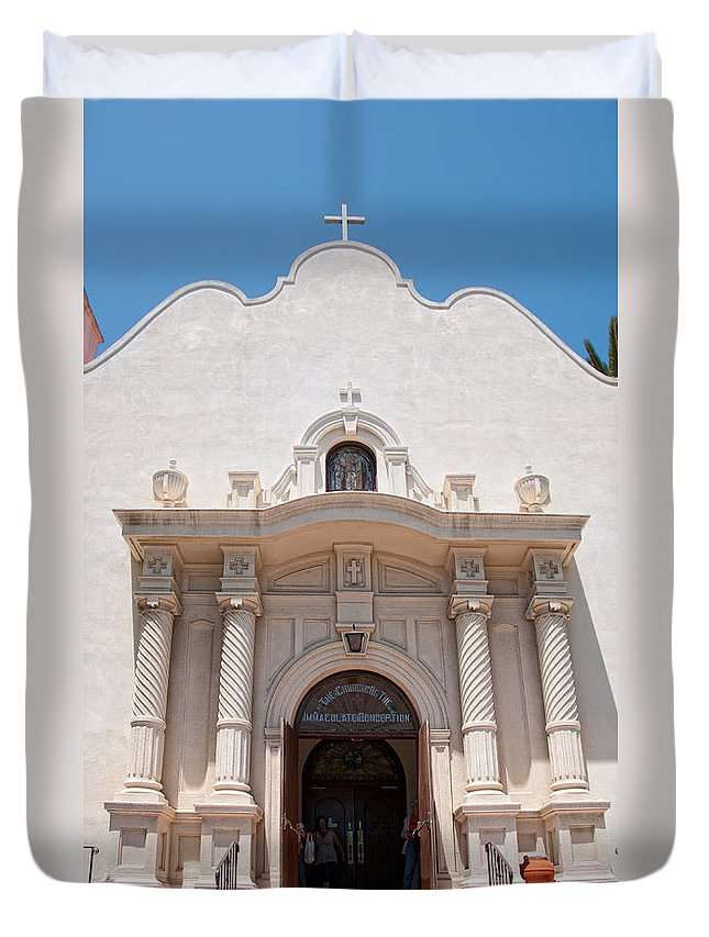 Architecture Duvet Cover featuring the digital art Old Town San Diego by Carol Ailles