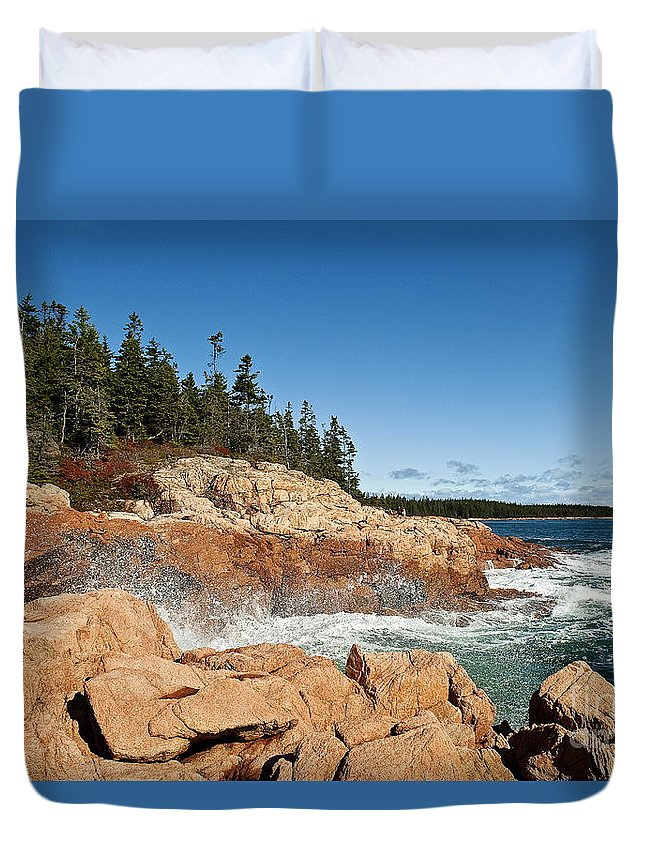 Acadia National Park Duvet Cover featuring the photograph Acadia National Park by John Greim