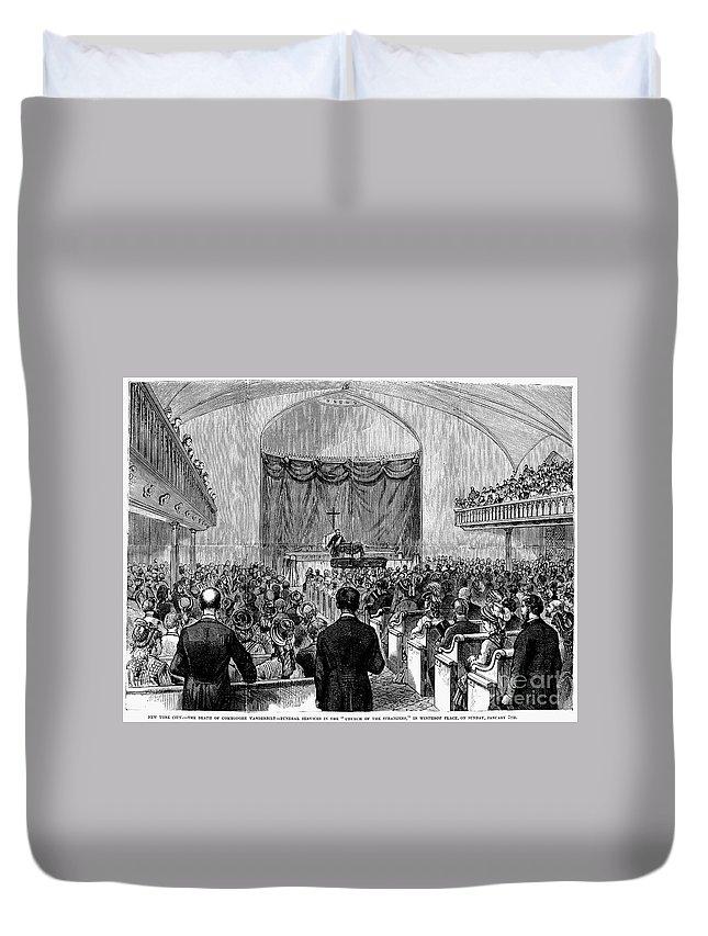 1877 Duvet Cover featuring the photograph Cornelius Vanderbilt by Granger