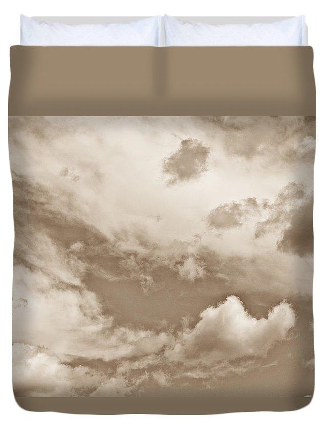 Skies Duvet Cover featuring the photograph English Summer Sky by David Pyatt