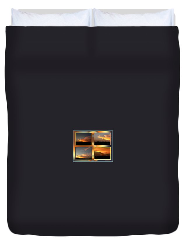 Ericamaxine Duvet Cover featuring the photograph 4 In 1 Sunsets by Ericamaxine Price